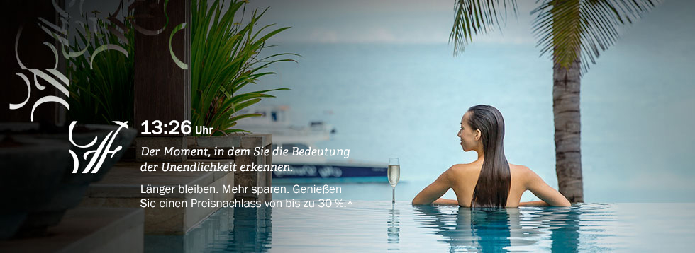 Fairmont Moments-Angebot